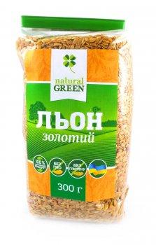Семена льна золотого NATURAL GREEN 300 г (4820200940786)