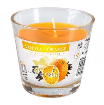 Свеча ароматическая Aurelia Bispol Ваниль-Апельсин 160 г (sn90-O-VO)