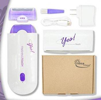 Электрический депилятор-триммер для удаление волос со всего тела FINISHING TOUCH Белый с фиолетовым