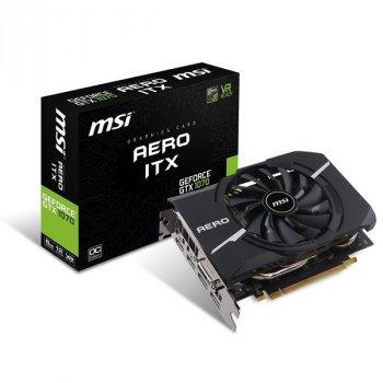 Відеокарта MSI GeForce GTX1070 8192Mb AERO ITX OC (GTX 1070 AERO ITX 8G OC)
