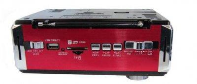 Радіоприймач колонка-годинник Golon RX-722 Червона (4065_sp)