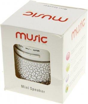 Портативна акустика TOTO A9 Shine Big Size Bluetooth Speaker White
