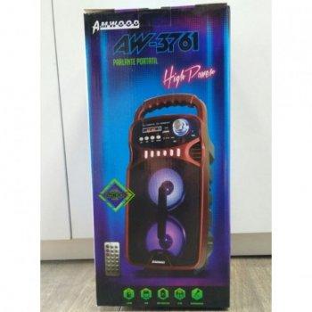 Портативна акустична система Bluetooth з пультом дистанційного керування і мікрофоном Ailiang AW-3761 Red