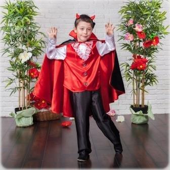 Карнавальный костюм I.V.A.moda Вампир Чертик 30 черный iva-472