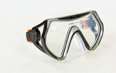 Набор для плавания маска с трубкой Zelart M166-SN52-SIL черный