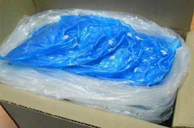 Бахилы АТМА полиэтиленовые 1000 пар (2000 шт) Голубые (BP4016_2000)