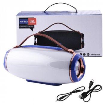 Bluetooth-колонка Lux AK202 LIGHT SHOW 3D BASS SOUND, STRONG BATTERY, c функцією Power Bank, speakerphone, радіо. 31372