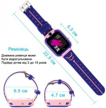 Годинникофон Edelin Дитячі смарт-годинник LBS Розумні годинник з вологозахист IP67 Pink