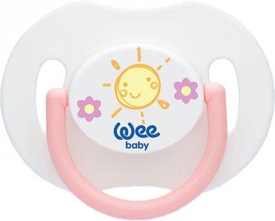 Набор пустышек Wee baby Ортодонтические День/Ночь от 6 до 18 месяцев Розовый (153-pink)