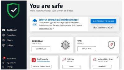 Ліцензійний антивірус BitDefender Total Security 2020 - тотальнийзахист вашихпристроїв. Єдина панель. (Ліцензія на 1 рік на 5 девайсів)