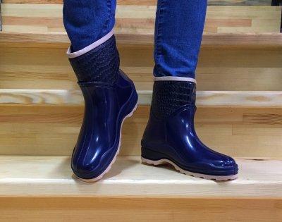 Гумові чоботи Selena з утеплювачем сині