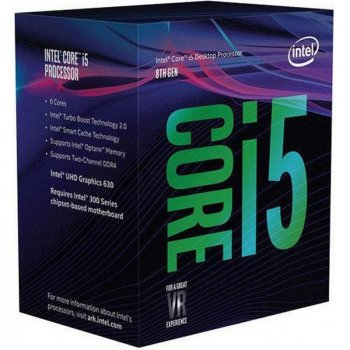 Процесор Intel Core i5 8600K 3.6 GHz 9MB Coffee Lake 95W S1151 Box BX80684I58600K no cooler