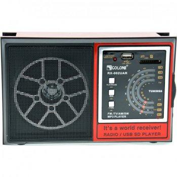 Радиоприёмник-колонка аккумуляторный Golon RX-002 MP3 USB SD Черный/Красный