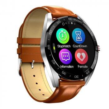 Смарт-годинник Smart K7 з вимірюванням рівня кисню в крові + тонометр, пульсометр і крокомір Коричневий