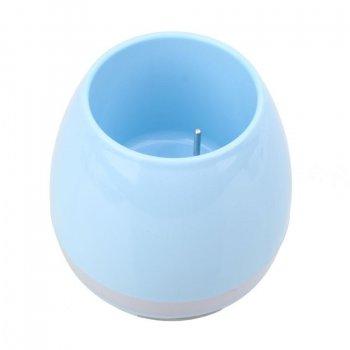 "Розумна Bluetooth колонка ""музичний горщик"" STK Music Pots блакитний"