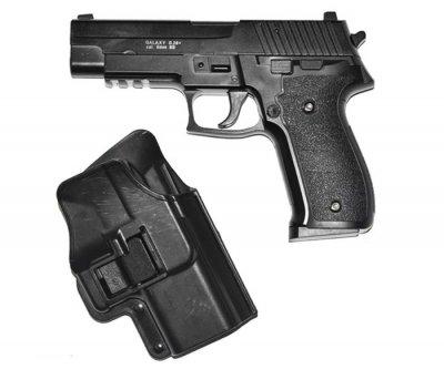 Страйкбольный пистолет Galaxy G.26+ (Sig Sauer 226) с кобурой