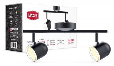 Спотовий світильник MAXUS MSL-01C 2x4W 4100K чорний (2-MSL-10841-CB)
