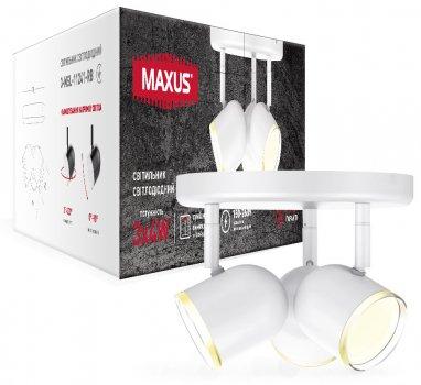 Спотовий світильник MAXUS MSL-01R 3x4W 4100K білий (3-MSL-11241-RW)