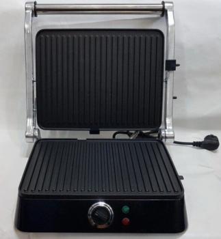 Гриль електричний притискної з таймером DSP KB-1001 1400W Black/Silver