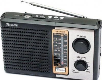 Радиоприёмник-колонка аккумуляторный Golon F10 MP3 USB SD Черный