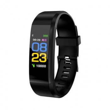 годинник смарт smart браслет 115 PLUS пульсометр крокомір фитнестрекер (2323280941133)