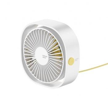 Вентилятор настольный Baseus Flickering Desktop Fan Белый (38-SAN600)