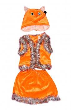 Детский карнавальный костюм Лиса 110-116 см