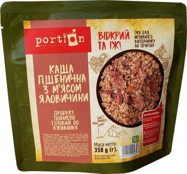 Упаковка каші Portion пшеничної з м'ясом яловичини 350 г х 4 шт (2222000004323_2118000017381)