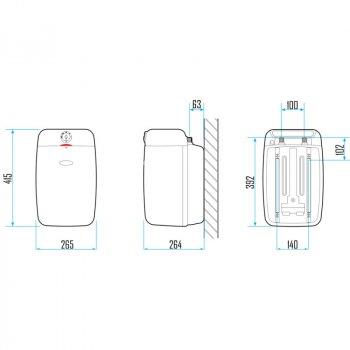 Електричний бойлер під мийку Aquahot 10 л AQHEWHV10USS білий (56167)