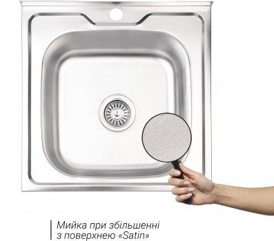 Кухонная мойка LIDZ 5050 Satin 0.8 мм (LIDZ5050SAT8)