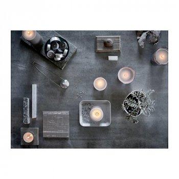 Ароматична свічка в склянці IKEA (ІКЕА) SINNLIG 7.5 см мускатний горіх і ваніль сірий (103.373.94)
