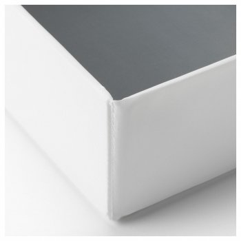 Коробка з відсіками IKEA (ІКЕА) RASSLA 25х41х9см біла (804.213.27)