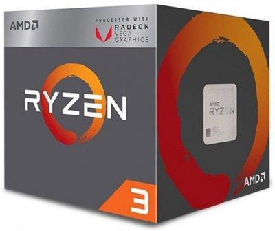 AMD AM4 Ryzen 3 2200G 3500MHz - 8MB Cache - 65W, Radeon Vega 8, BOX, Raven Ridge