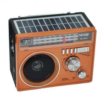 Радиоприемник NNS 1361S Solar Коричневый (BS2167)