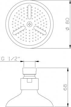 Верхний душ I.S.A. IDROSANITARIA Guglielmo 59600/59610