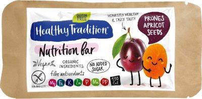 Упаковка батончиков Healthy Tradition Nutrition bar Чернослив, курага 34 г x 10 шт (4820192430241)