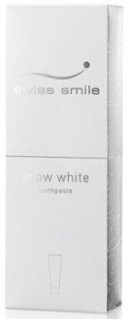 Зубная паста отбеливающая Swiss Smile Snow White Снежно-белая 75 мл (600-002) (7640131976022)