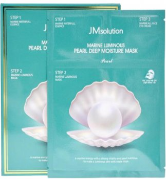 Трёхшаговая увлажняющая маска с жемчугом JMsolution Marine Luminous Pearl Deep Moisture Mask 45 г (8809505541757)