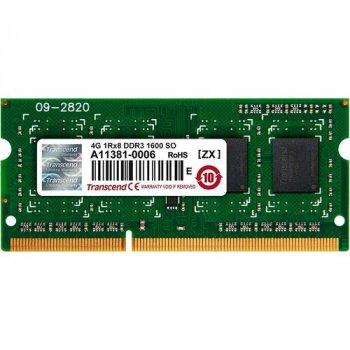 Модуль пам'яті TRANSCEND JETRAM DDR3 4Gb 1600Mhz (JM1600KSH-4G)