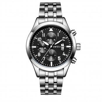 Мужские часы Swidu SWI-081 Silver + Black (3091-8718а)