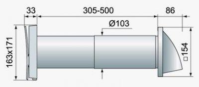Стеновой проветриватель Вентс ПС 102