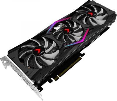 PNY PCI-Ex GeForce RTX 2080 XLR8 Gaming Overclocked Edition 8GB GDDR6 (256bit) (1515/14000) (HDMI, 3 x DisplayPort, USB Type-C) (VCG20808TFPPB-O)