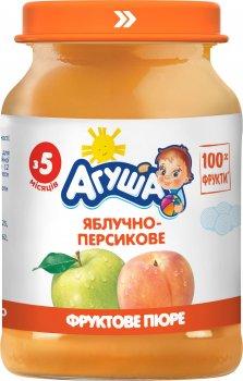Упаковка пюре Агуша Яблучно-персикове з 5 місяців 8х190 г (4823063113403-8)