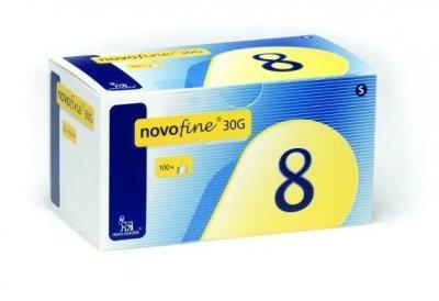 Иглы инсулиновые для шприц ручек Novofine Novo Nordisk Новофайн 8 мм 30G