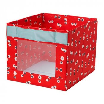Коробка IKEA ANGELÄGEN 38x42x33 см червона 604.179.44