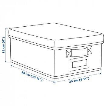 Коробка з кришкою IKEA STORSTABBE 25x35x15 см синя 503.983.52