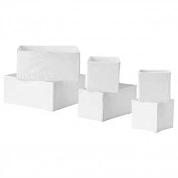 Набір коробок IKEA SKUBB 6 шт білий 001.926.31