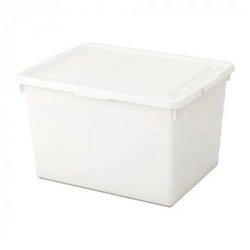 Коробка з кришкою IKEA SOCKERBIT 38x51x30 см біла 803.160.67