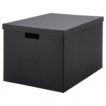 Коробка с крышкой IKEA TJENA 35x50x30 см черная 103.743.48
