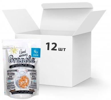Упаковка сухих завтраков Good morning Granola С кокосом 330 г х 12 шт (24820192180027)